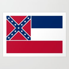 State Flag of Mississippi Art Print