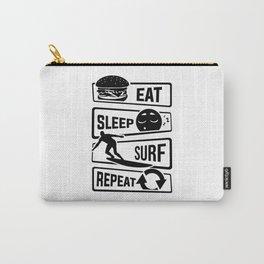 Eat Sleep Surf Repeat - Surfboard Sea Beach Boy Carry-All Pouch