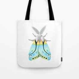 Blue Moth Tote Bag
