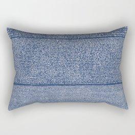 The Rosetta Stone // Navy Blue Rectangular Pillow