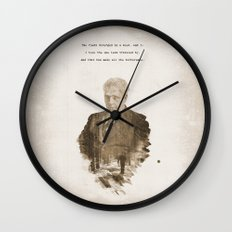 The One Less Traveled By Wall Clock