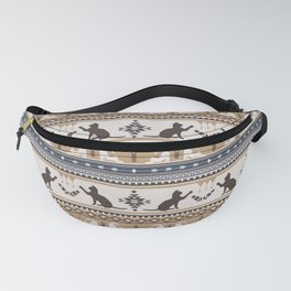 Boho cats | Domestic house cat tan Fanny Pack