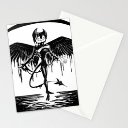 Bendy, the fallen angel Stationery Cards