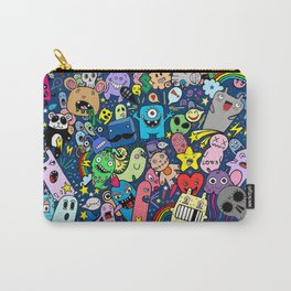 Doodle Monsters Party Night Carry-All Pouch