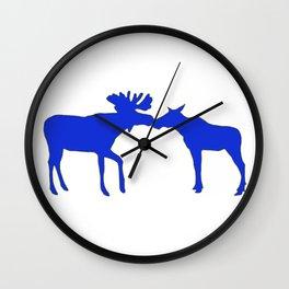 Graphic Swedish Moose Kissing Wall Clock