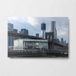 Freedom Tower & Jane's Carousel 2012 Metal Print