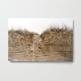 sand dunes in snow Metal Print