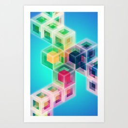 Colorful Cubes Art Print
