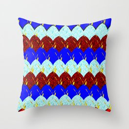 Red White and Blue Scales Throw Pillow