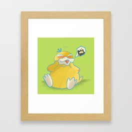 Psyduck Love Framed Art Print