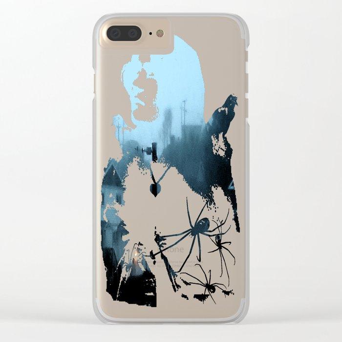 Strange Night: Ghost Light Clear iPhone Case