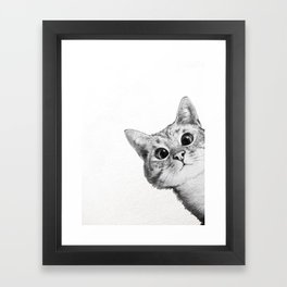sneaky cat Framed Art Print
