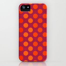 """Warm Burlap Texture & Polka Dots"" iPhone Case"