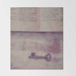 Book and Key Throw Blanket