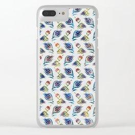 Turkish tulip - Ottoman tile pattern 1 Clear iPhone Case