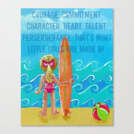 Courage, Commitment, Character Canvas Print