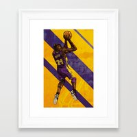 kobe Framed Art Prints featuring Kobe Bryant: BLACK MAMBA by Maddison Bond