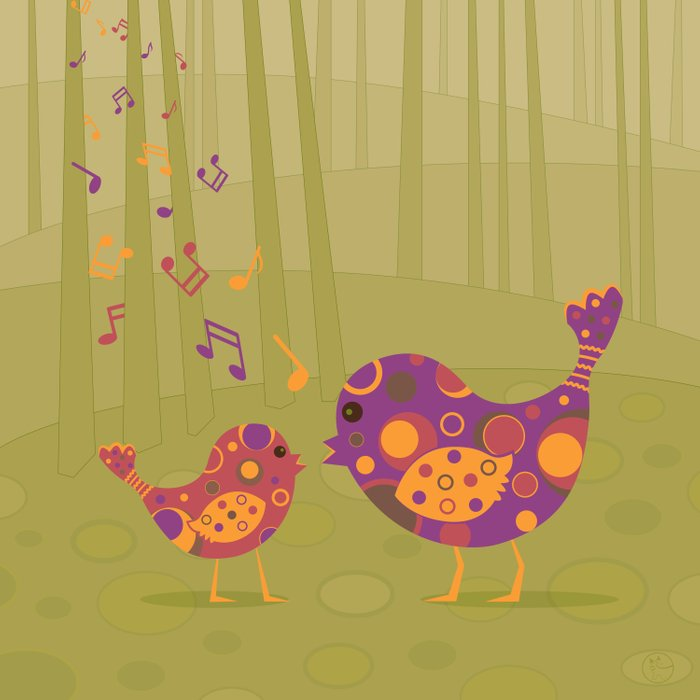 Bird Duet Comforters
