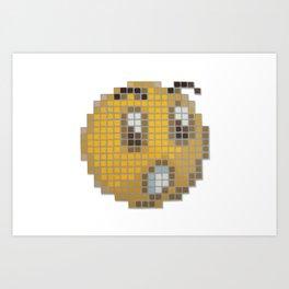 Emoticon Ohh Art Print