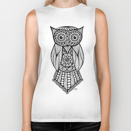 Zentangle - Owl Biker Tank