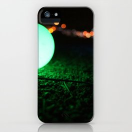Light and Focus (Green) iPhone Case
