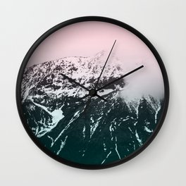 Mountains last forever Wall Clock