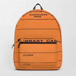 Library Card BSS 28 Orange Backpack