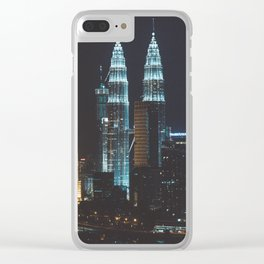 Petronas Towers Clear iPhone Case