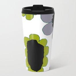 Daisies - Avocado and Slate Travel Mug