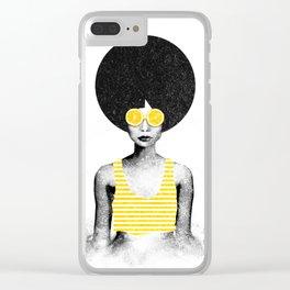 Lemon Jazz Clear iPhone Case