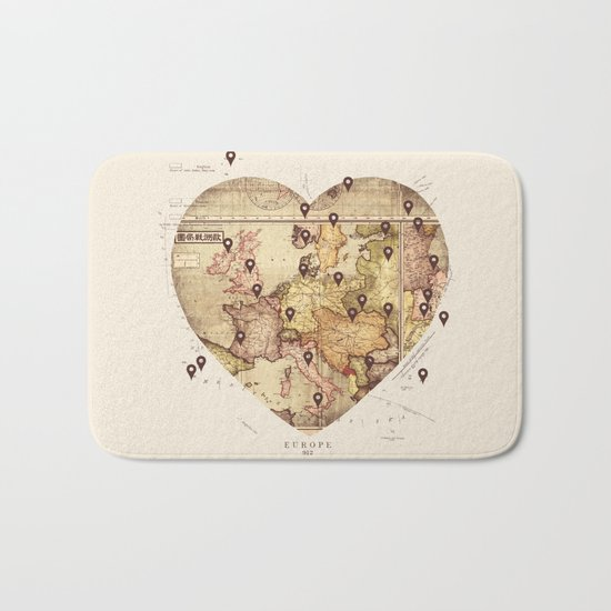 Love to Travel Bath Mat