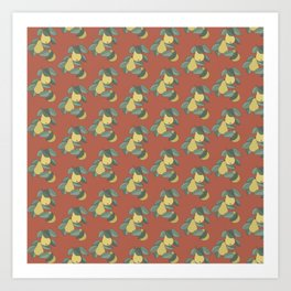 pears on brune Art Print
