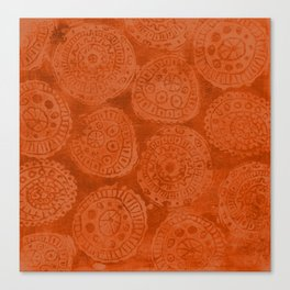 Tribal Terracota Rounds Canvas Print