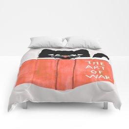 Cat reading book Comforters