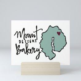 Mount Dessert Bakery Logo Mini Art Print