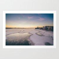 Kemijoki river Art Print