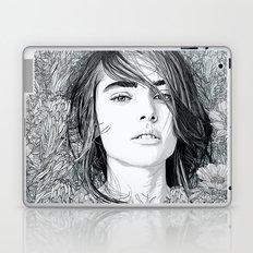 White Moon Garden Laptop & iPad Skin