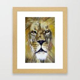 Title: Mesmerizing Lion King Framed Art Print