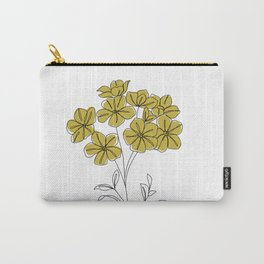 Botanical floral illustration line drawing - Iona Carry-All Pouch