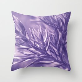 Ultra Violet Spruce Tree Pattern| Trendy color of year 2018 Throw Pillow