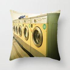 Laundromat Throw Pillow