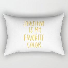 Sunshine Is My Favorite Color Rectangular Pillow
