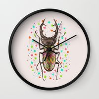insect Wall Clocks featuring INSECT IV by dogooder