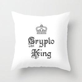 Crypto King Throw Pillow