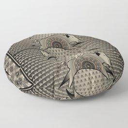 Buffalo Running (Gray) Floor Pillow