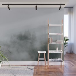 Mysterious moody foggy Forest - Landscape Photography Wall Mural