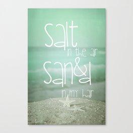 SALT &  SAND Canvas Print