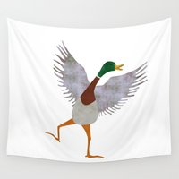 duck Wall Tapestries featuring Duck by Jade Young Illustrations