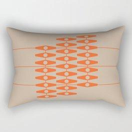 abstract eyes pattern orange tan Rectangular Pillow