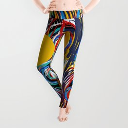 A Happy Loving Family Street Art Graffiti Leggings